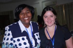 Dr Violet Makuku (AAU) HAQAA Initiative Project Officer & Nicole Font (UB)